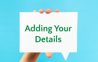 adding your details